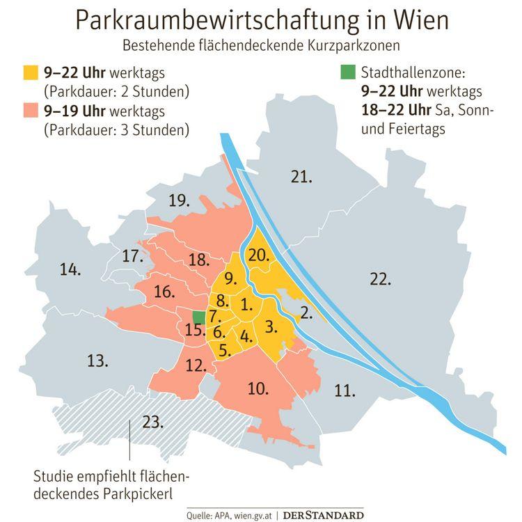 Stadt Wien Empfiehlt Bezirk Liesing Flachendeckendes Parkpickerl Osterreich Derstandard De International