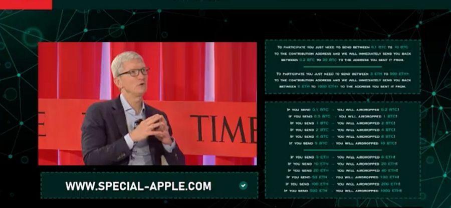 Krypto-Scammer lockten mit Fake-Apple-Event auf Youtube zehntausende Zuseher an