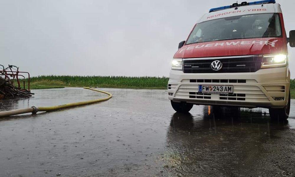 Feuerwehreinsätze nach Unwetter im Bezirk Amstetten und im Waldviertel